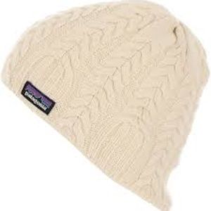 Patagonia Wool Cable Knit Beanie Birch White Cream